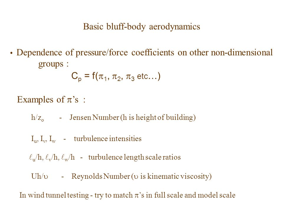 Basic bluff-body aerodynamics