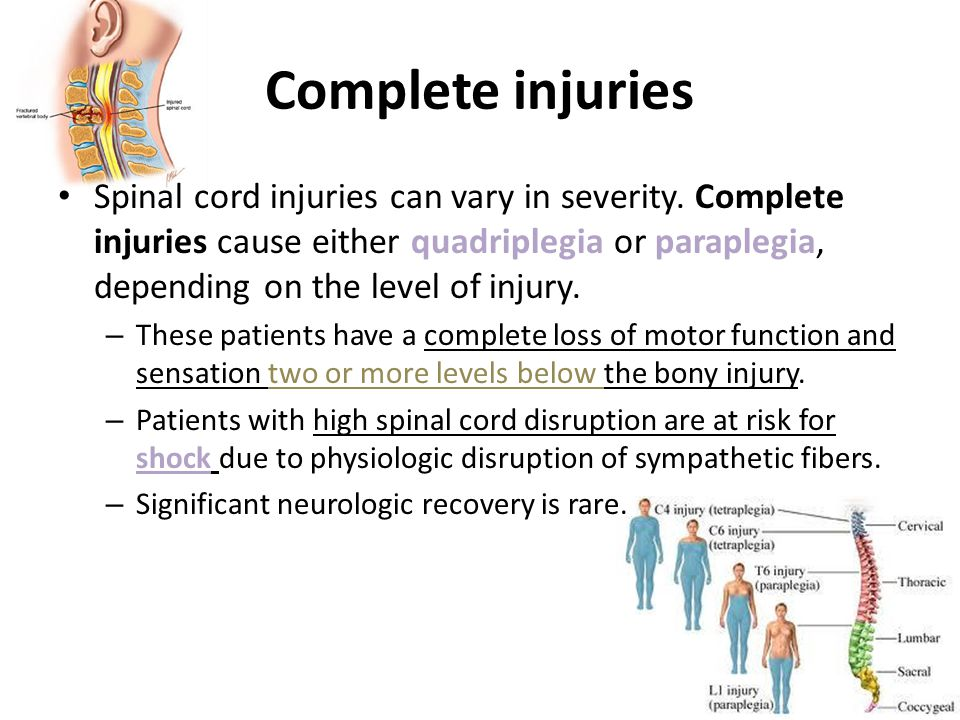 Complete injuries
