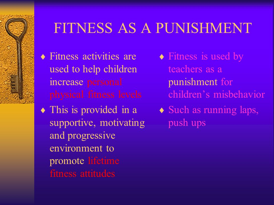 FITNESS AS A PUNISHMENT