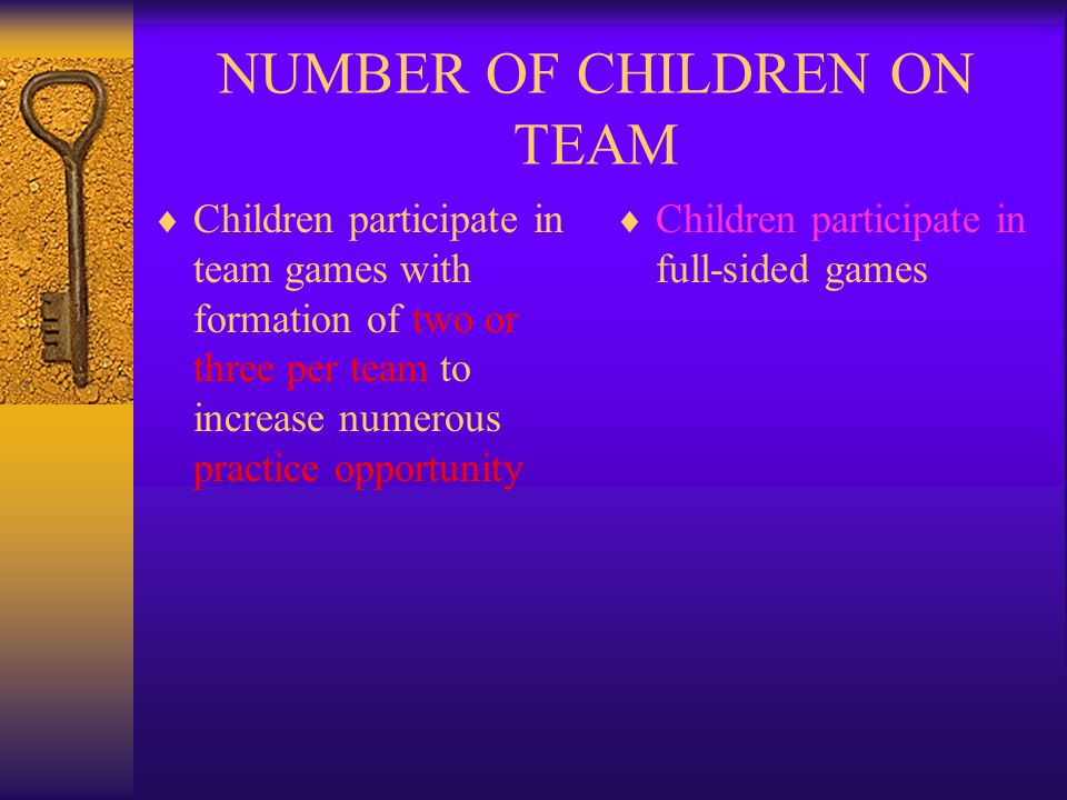 NUMBER OF CHILDREN ON TEAM