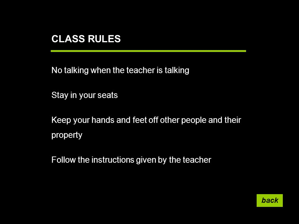 instructions given by teacher