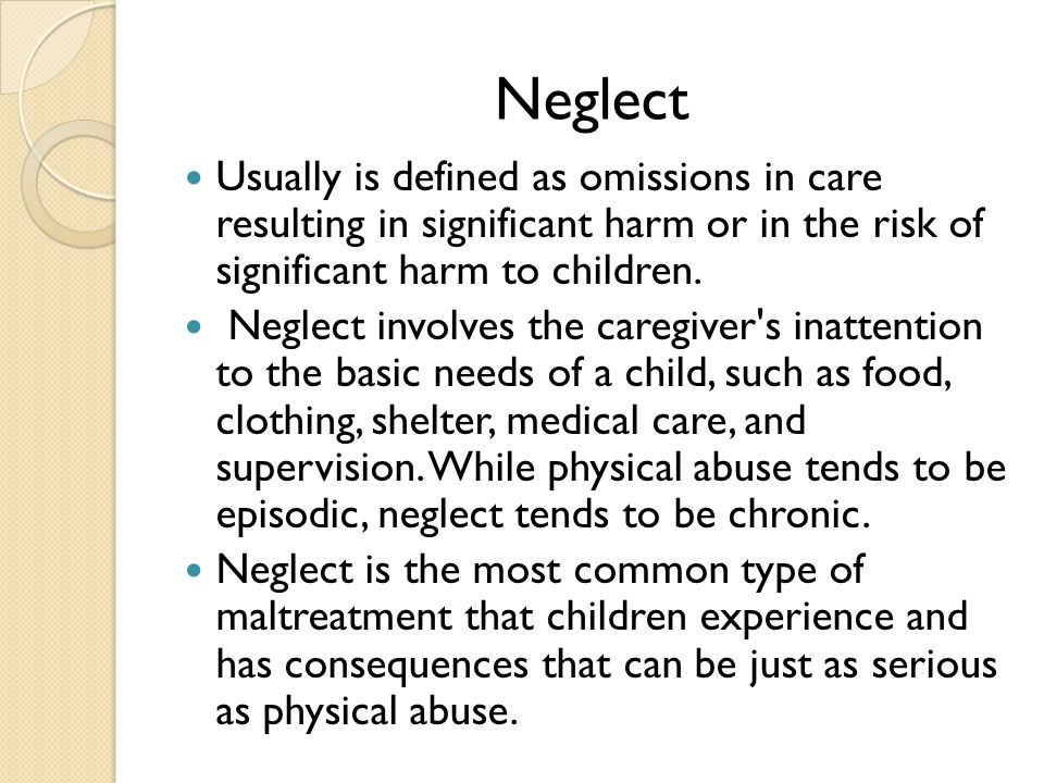 identifying risk of harm to child Indicators of harm, neglect, abuse or risk of harm respond holistically to client issues all workers within the community and disability fields are aware that their client group often contains marginalised and disadvantaged adults and children.