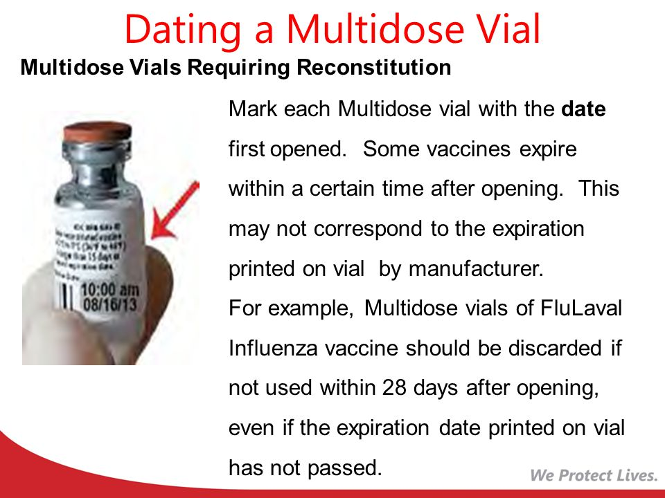 Expiration dating of multidose vials
