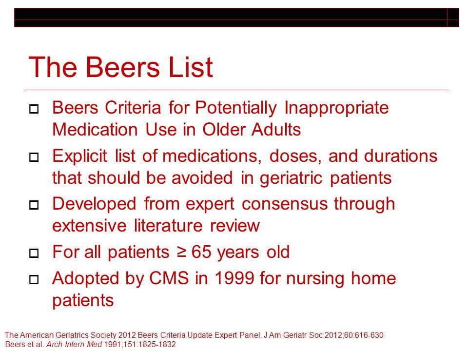 beers criteria 2017