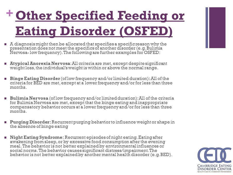 an overview of eating disorders This page provides a comprehensive and non-pathologizing overview of struggles with eating disorders, including those on the clinical end of severity.