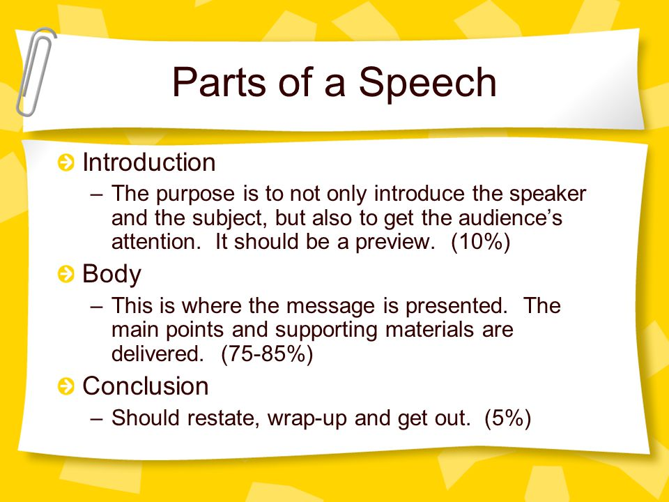 how to write a conclusion for a speech If the ending isn't memorable, the talk itself may not be  the most dramatic  example of this at ted was when bill stone spoke of the.