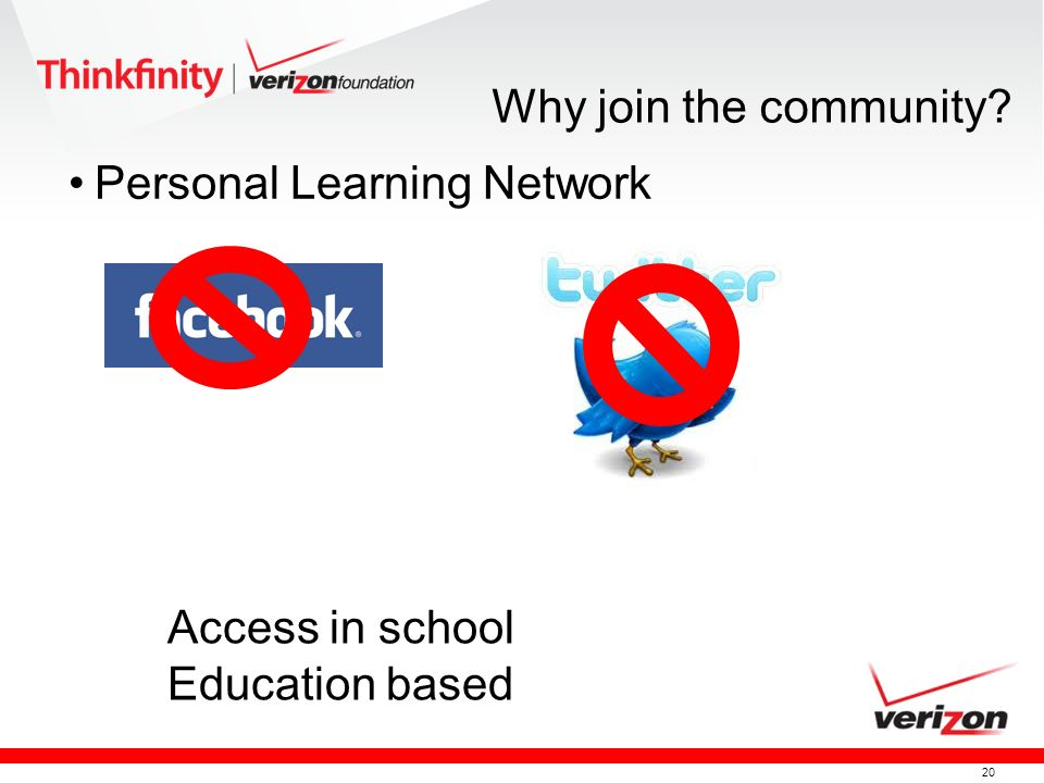 Why join the community Personal Learning Network Access in school Education based
