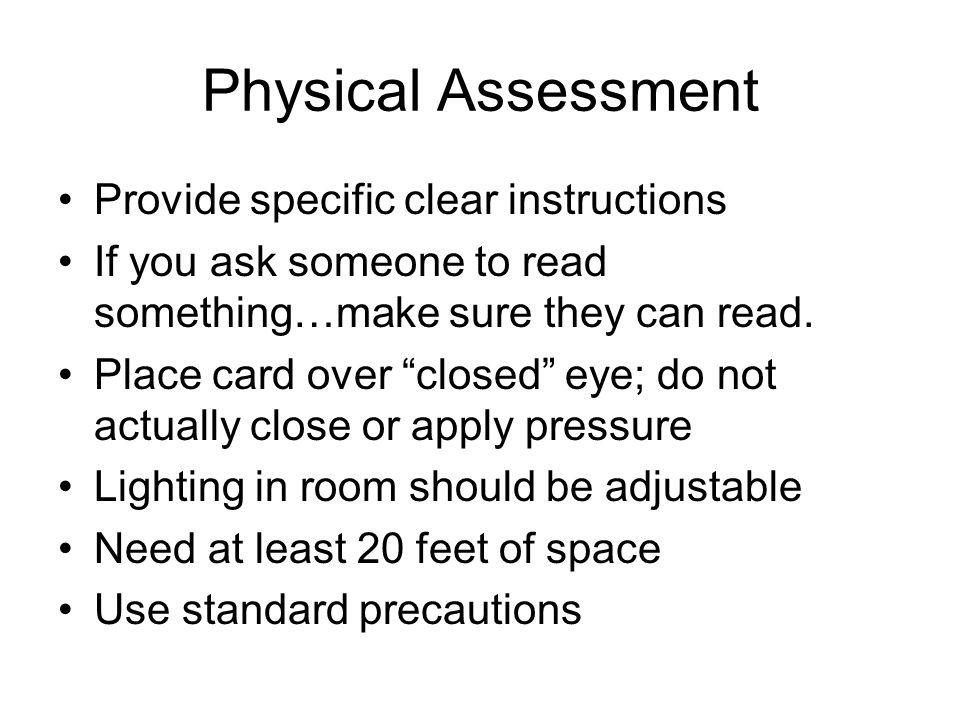 snellen eye test instructions