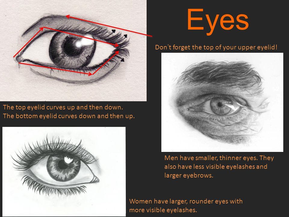 Eyes Don't forget the top of your upper eyelid!