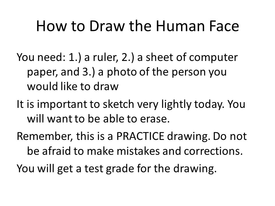 How to Draw the Human Face