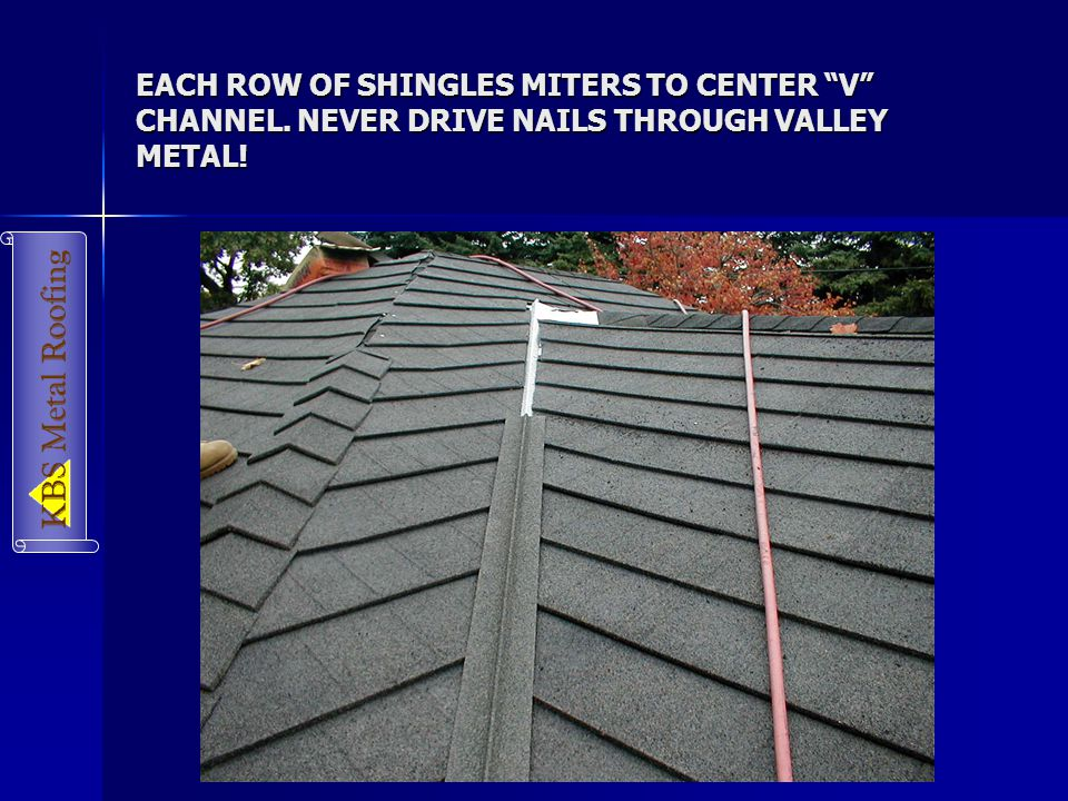 metal roof valley installation instructions