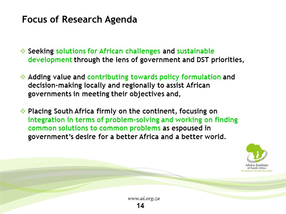 Focus of Research Agenda