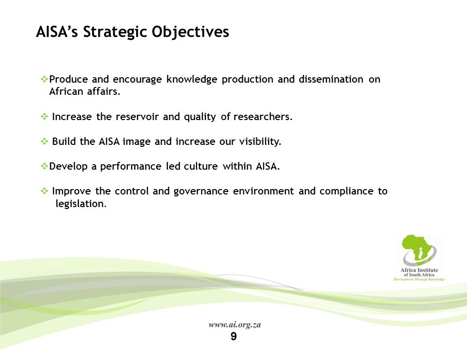 AISA's Strategic Objectives