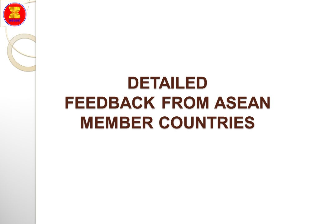 DETAILED FEEDBACK FROM ASEAN MEMBER COUNTRIES
