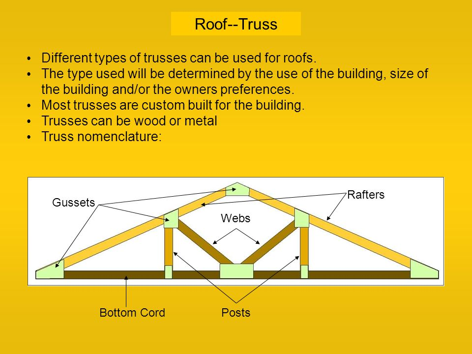 Roof ppt video online download for Where to buy roof trusses