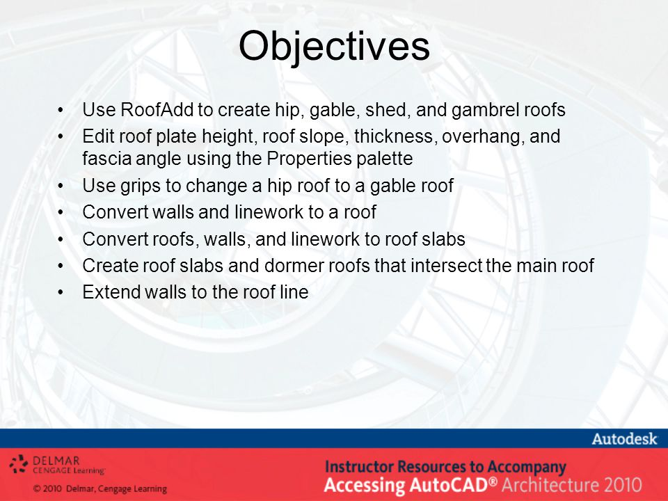 Objectives Use RoofAdd to create hip gable shed and gambrel roofs  sc 1 st  SlidePlayer & Creating Roofs and Roof Slabs - ppt video online download memphite.com