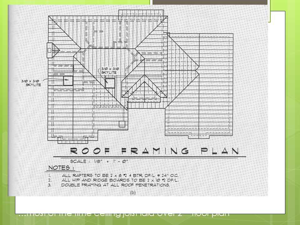 Roofs ppt video online download for Ceiling framing plan