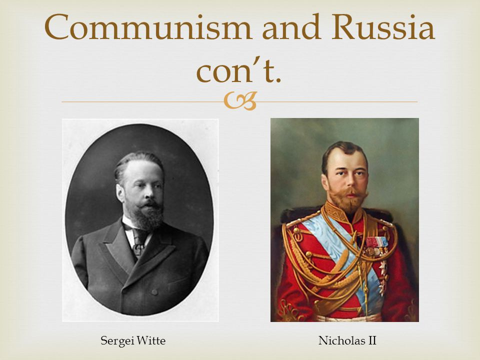 Communism and Russia con't.