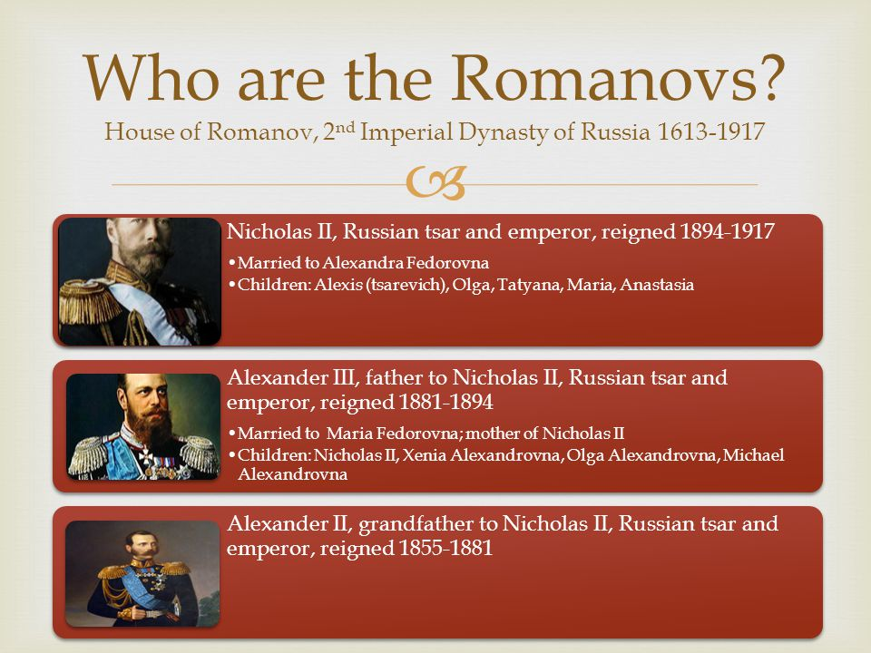 Who are the Romanovs House of Romanov, 2nd Imperial Dynasty of Russia