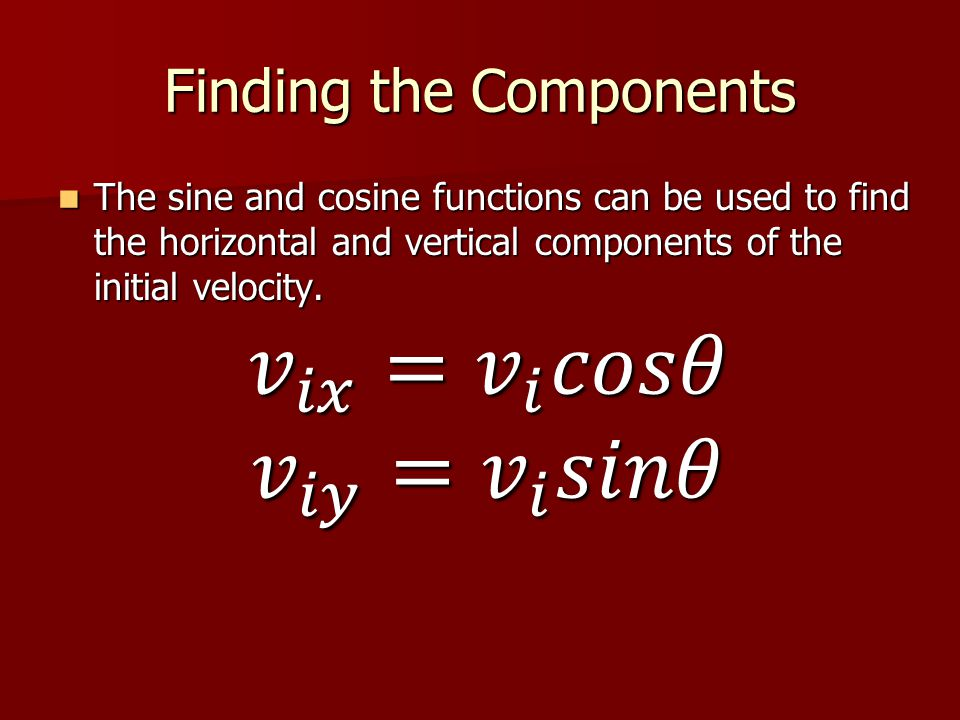 Finding the Components
