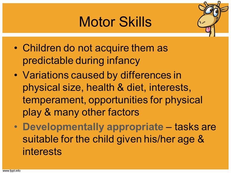 Physical growth development ppt video online download for Motor skills child development