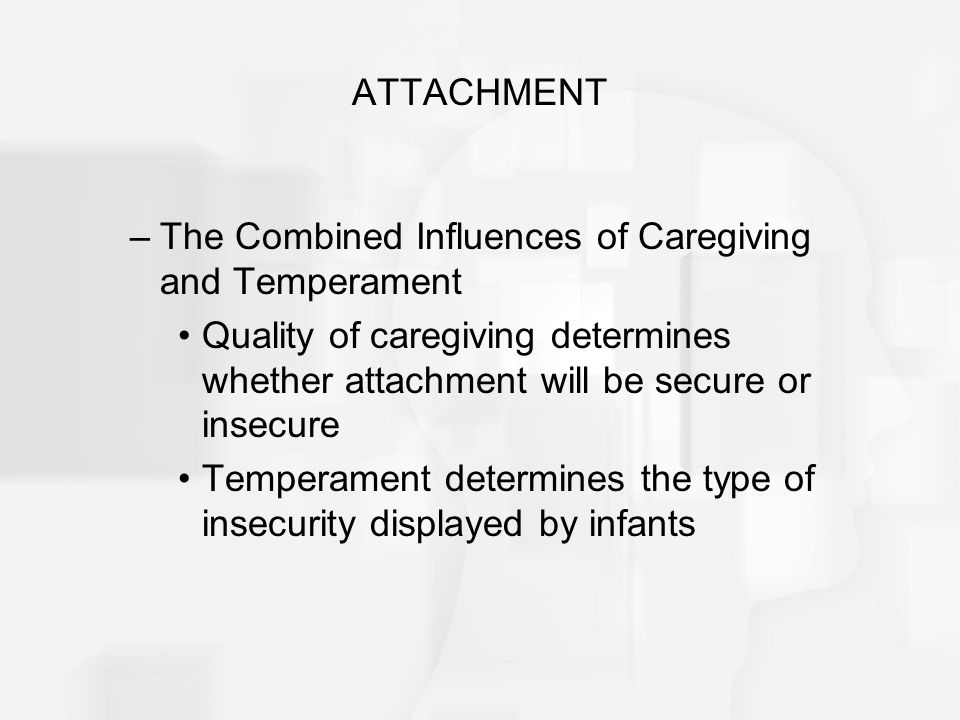 development of secure and insecure attachments Disorganized attachment is actually the lack of a coherent style or pattern for coping organized attachments include the secure, and insecure (avoidant) and insecure (ambivalent) styles while ambivalent and avoidant styles are not totally effective, they are strategies for dealing with the.
