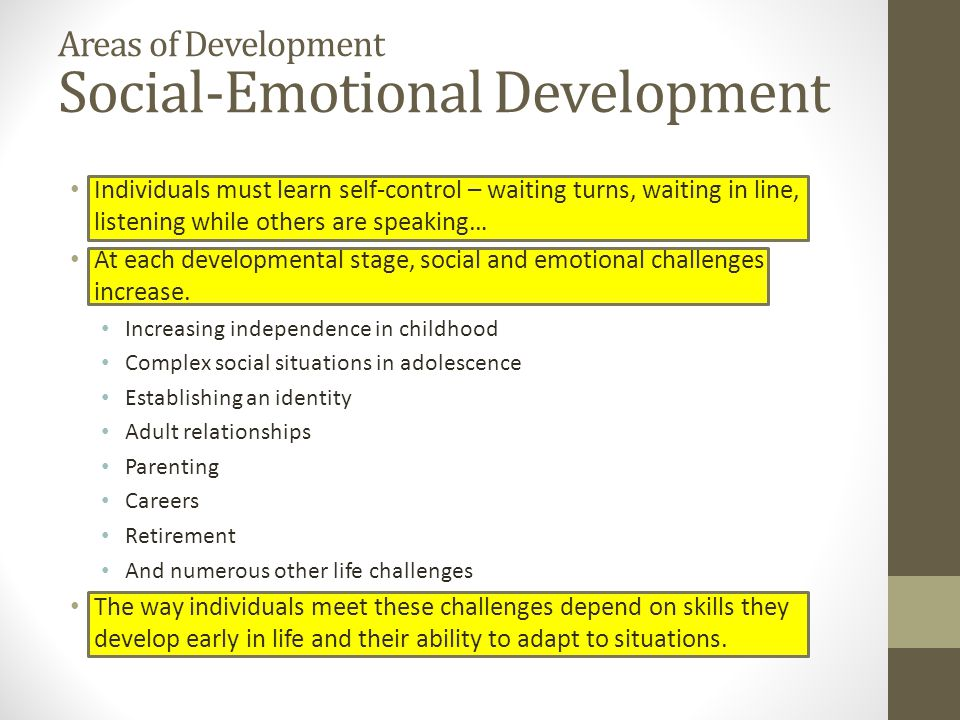 increasing social emotional development