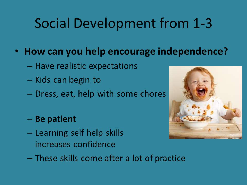 how to help social development of infsnt