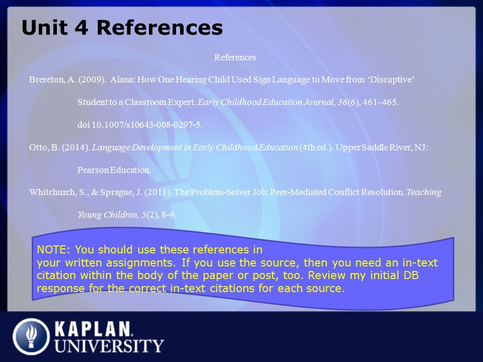 Unit 4 References References.