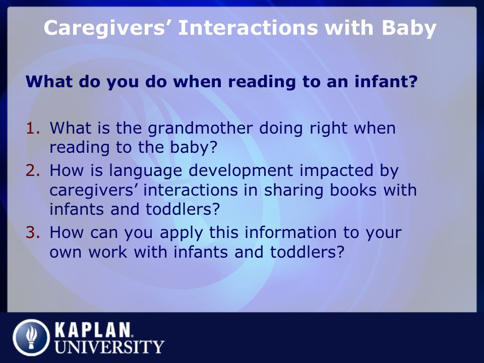 Caregivers' Interactions with Baby