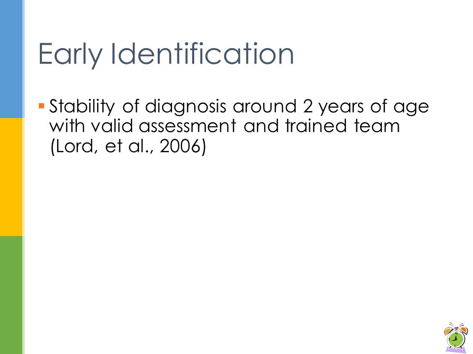 early identification of autism Learning module on early identification of asd  prevention (cdc) estimated  the prevalence of autism spectrum disorder (asd) as 1 out of every 150 children.