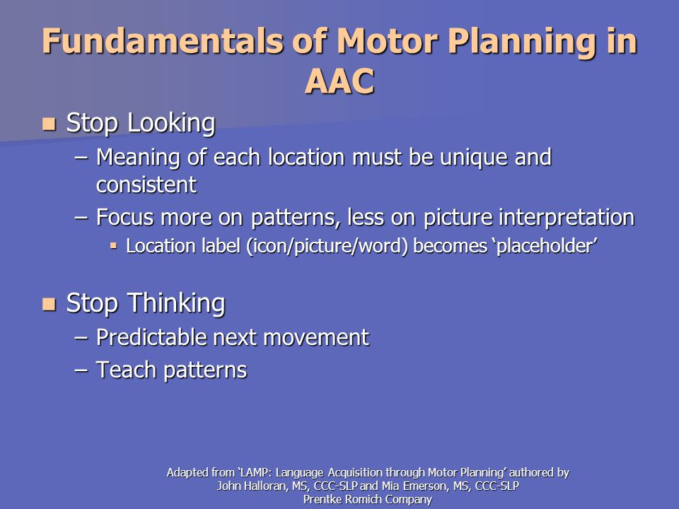 how to use language acquisition through motor planning