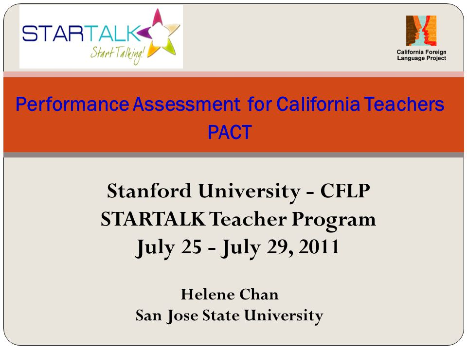 Performance Assessment For California Teachers Pact - Ppt Download