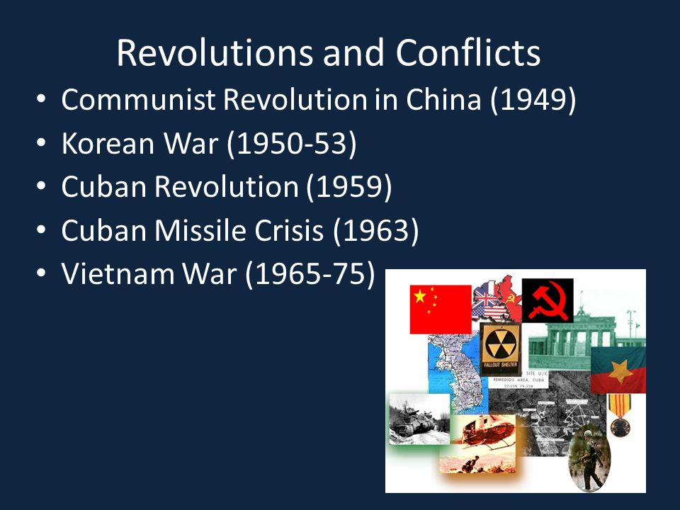 Revolutions and Conflicts
