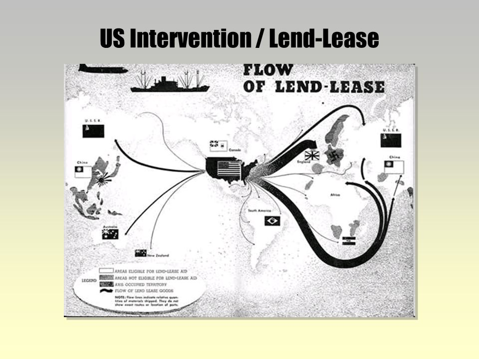 lend lease and united states The lend-lease act of 1941 allowed the united states to loan and lease defense equipment to the allies for the duration of world war ii.