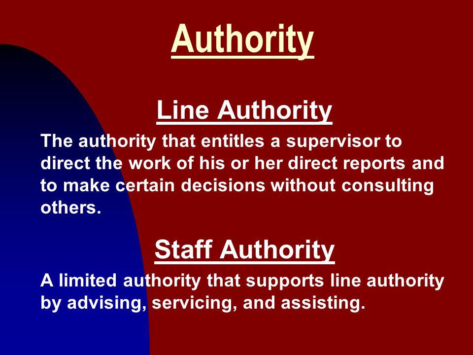 Authority Line Authority Staff Authority