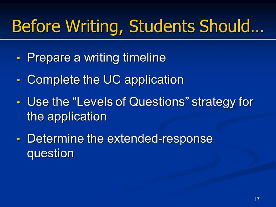 essay questions for uc application Admissions requirements essay question: (with school code university of california, los angeles-anderson school of management).