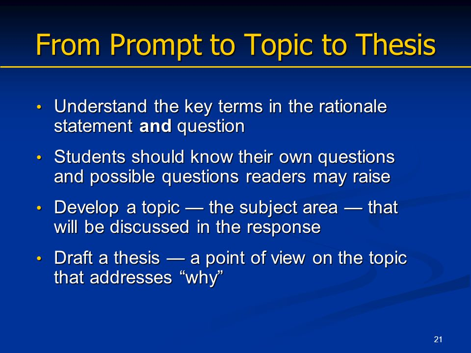 key to making a thesis statement You have to know the parts of a thesis statement for a research paper you are  writing in a research essay, it is essential to have a guiding sentence because it .