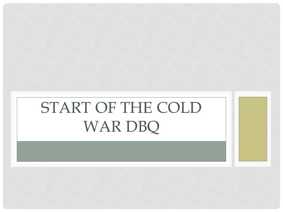 dbq the cold war begins answer key