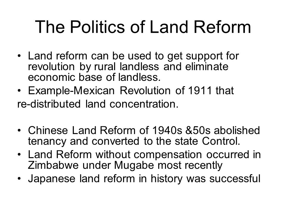 Land reforms in zambia