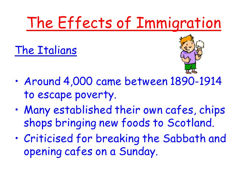 the effects of italian immigrants on The majority of italian immigrants arrived in australia while a policy of   assimilation policy had other notable effects on the italian australian family by its  very.