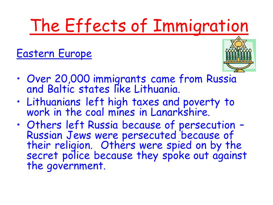 the effect of russian immigration on I am making a world history project on the russian revolution and i am wondering how did the russian revolution affect the the later effects were the cold war - the russian created the soviet union and affected the world focus on the red scare which has to do with immigration etc.