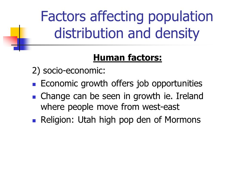 factors influencing population distribution in nigeria Population distribution nigeria is the africa's most populous country significant population clusters are scattered throughout the country, with the highest density .