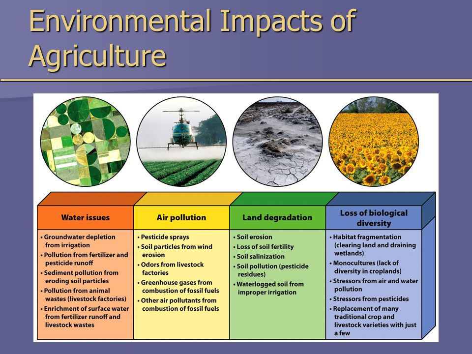 Environmental Impacts of Agriculture