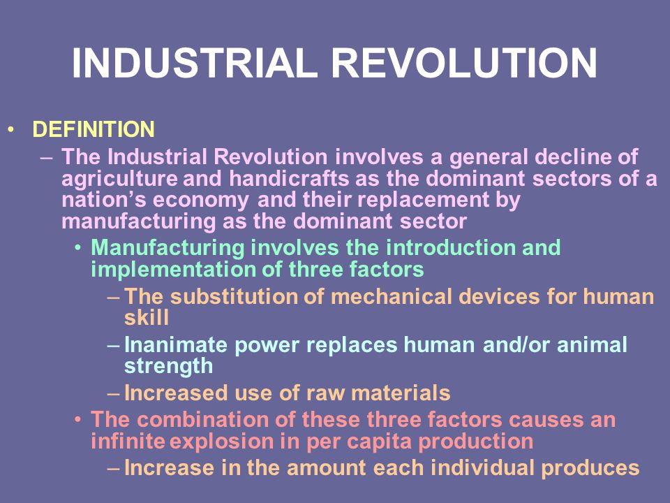 INDUSTRIAL REVOLUTION - ppt video online download