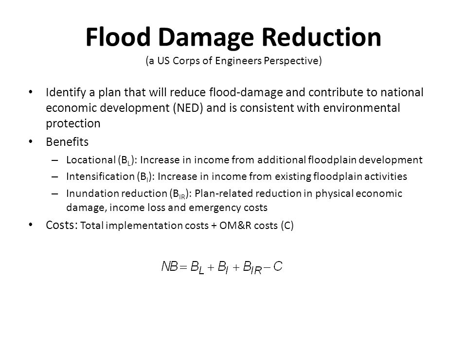 the effect of the annual inundation Flow inundation mapping & impact analysis  and annual report  • understand changes arising from different flow events and the effect(s).