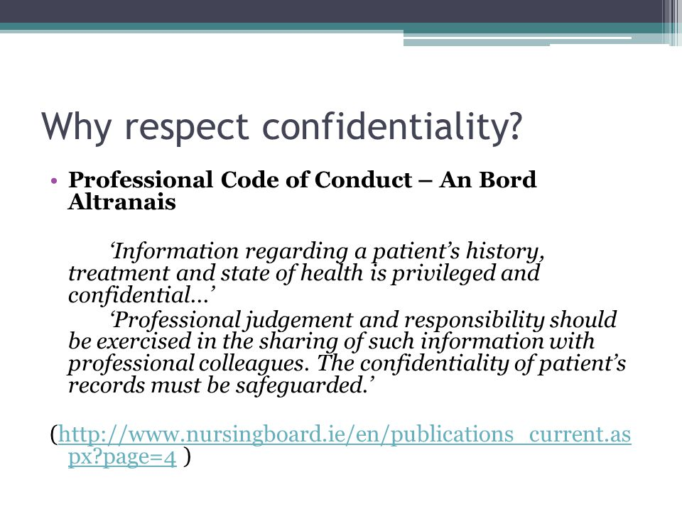 Confidentiality In Healthcare  Ppt Video Online Download