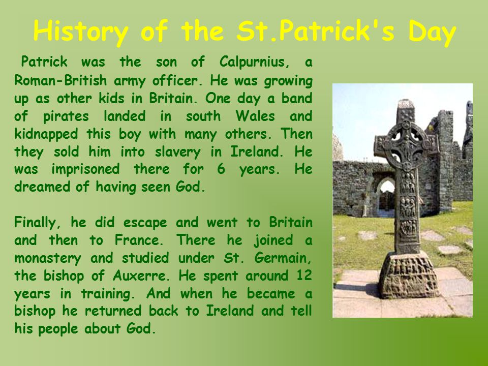 History of the St.Patrick s Day