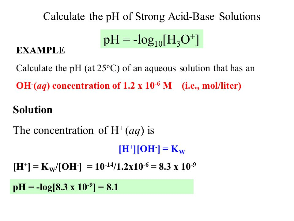 how the dilution of a strong What is the ph of 1m hcl solution  for the strong acid hcl you cannot reach equimolar relationships between the protonated form and the anion at 1 m, hcl is essentially completely dissociated .