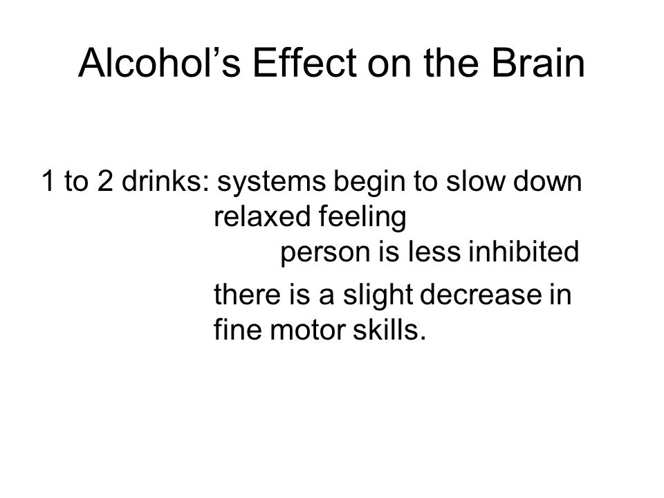 Alcohol's Effect on the Brain
